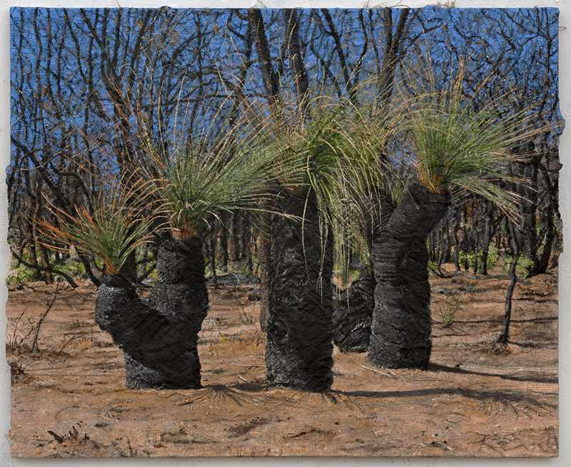 1.112X92 cm grass-tree-conga.nov-2016.-oil-and-mixed-media.