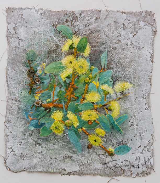 3. 77X89 cm yellow-flowers-.Feb-2016-mixed-media-