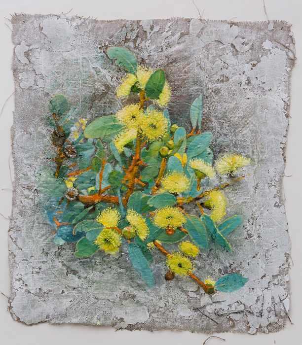 3. 77X89 cm yellow-flowers-.Feb-2016-mixed-media-