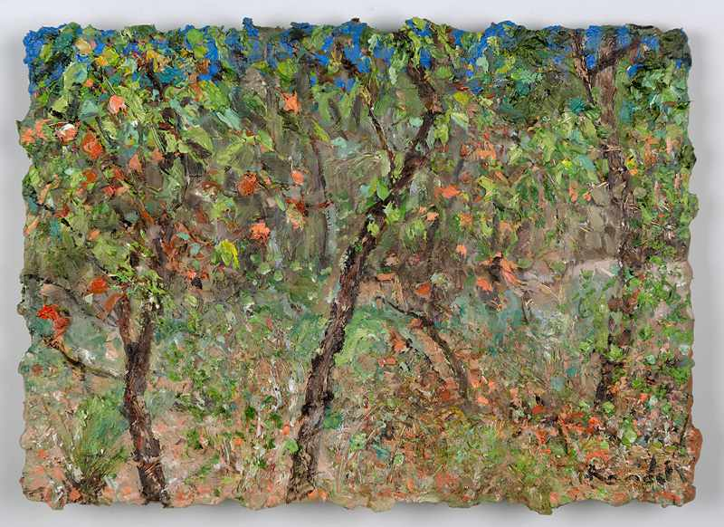 9X12 inches bush-tapestry.nov-2016.oil-on-board._