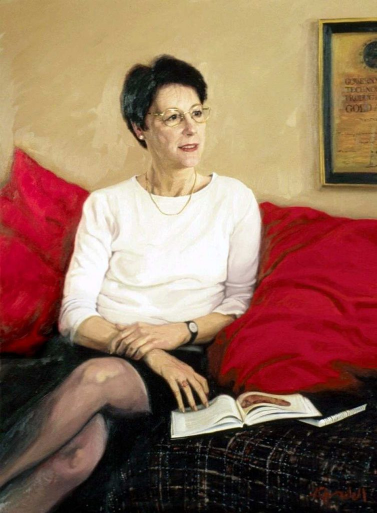Commission .Lyn Allen.State Librarian of Western Australia. oil on canvas