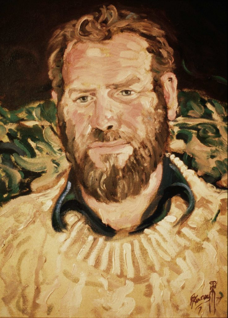 Commission Farmer Ian .Alla prima 3 hours oil on canvas 38cm by 46cm