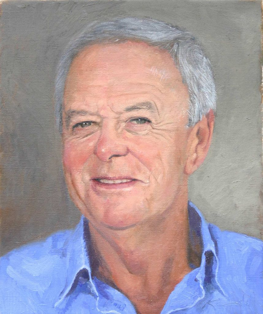 Commission John. oil on canvas 38cm by 46cm
