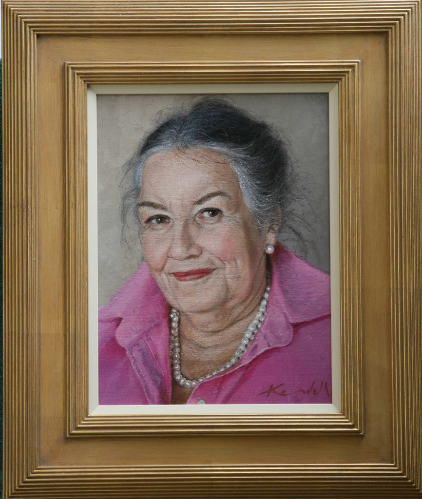 Commission  Lady Diane oil on canvas