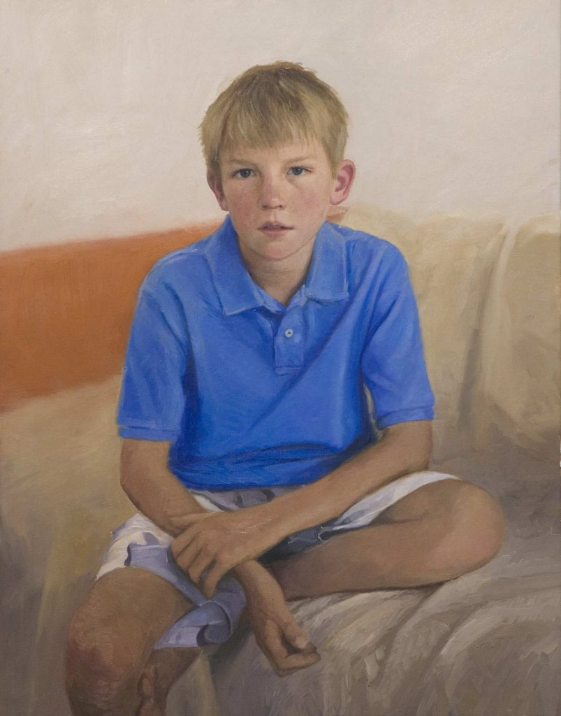 Commission   Tom.oil on canvas 28- BY 36 - INCHES