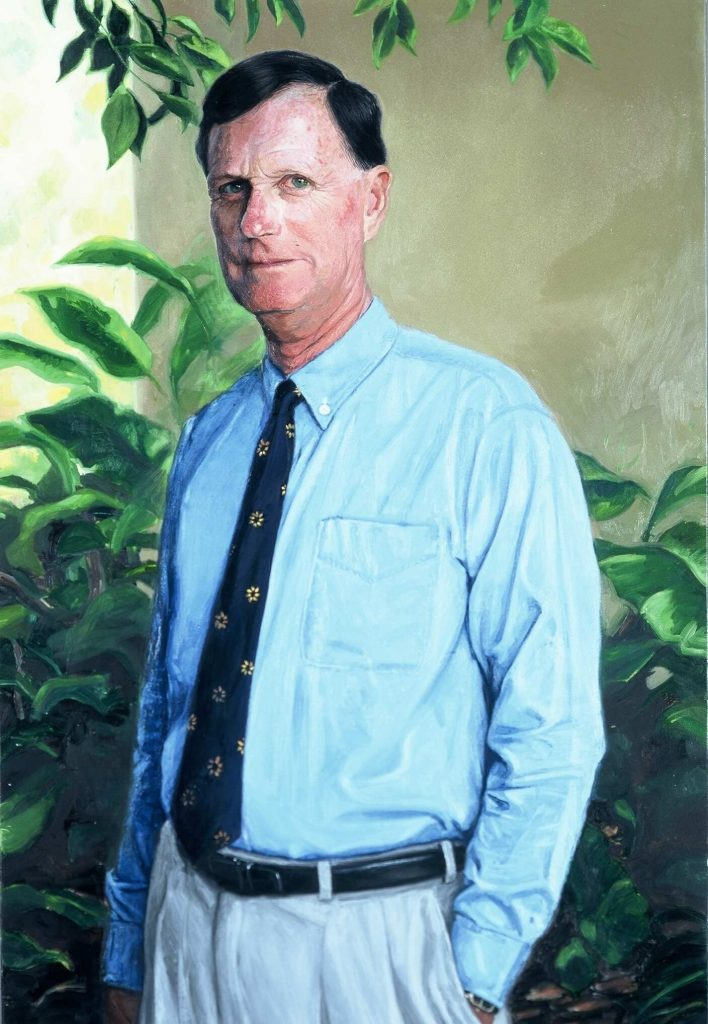 Commission   Vice chancellor Armadale University.oil on canvas 152cm by 125cm