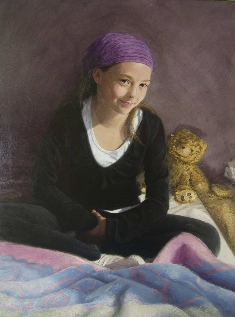 Commission   Zoe. oil on canvas 92cm by 122cm