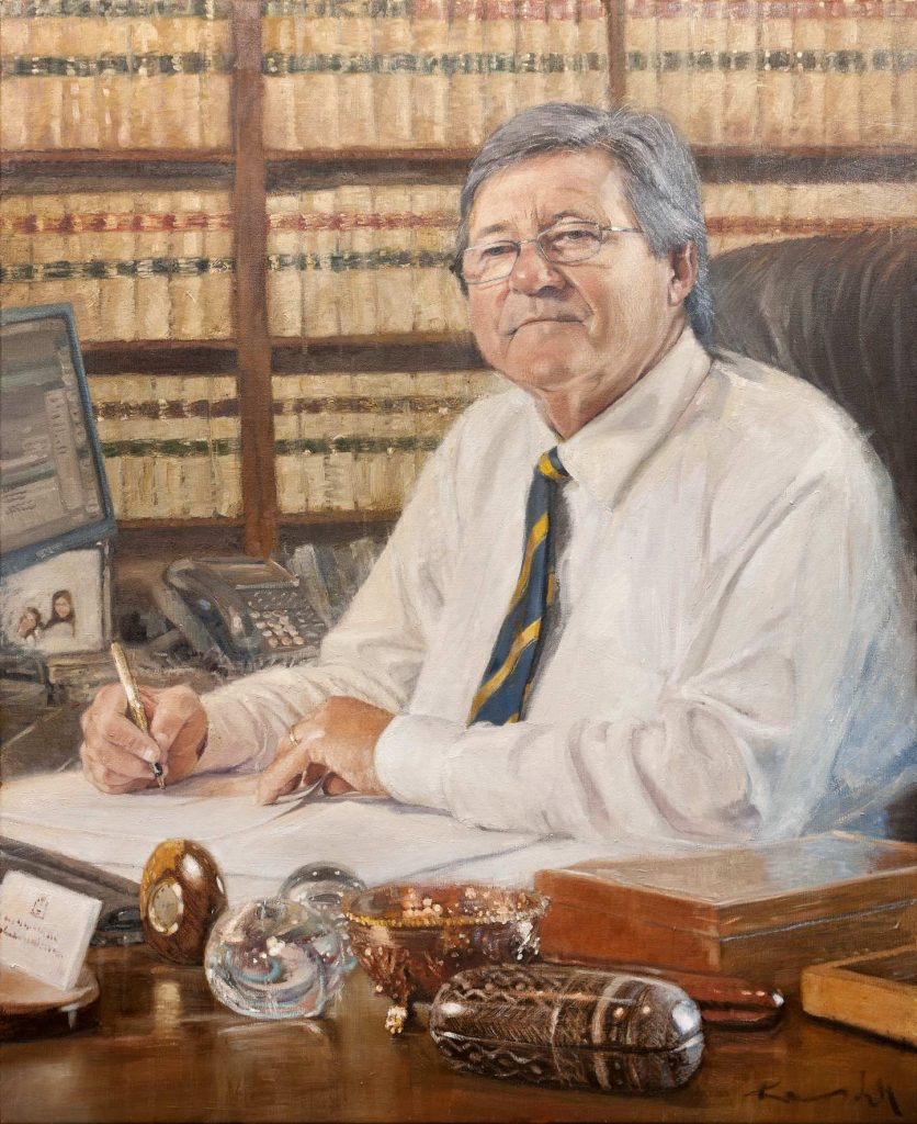 Commission. Chief Justice Supreme Court WA Wayne Martin .oil on canvas 111cm by152cmJPG