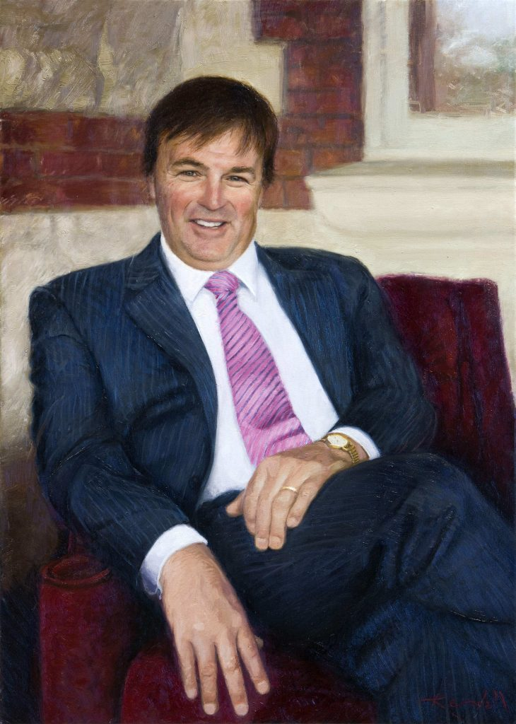 CommissionThe Headmaster Scotch College.oil on canvas 152cm by 125cm
