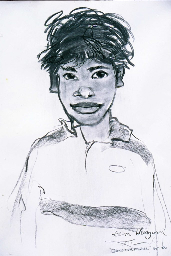 Portrait drawing.Kerm.Kalumburu