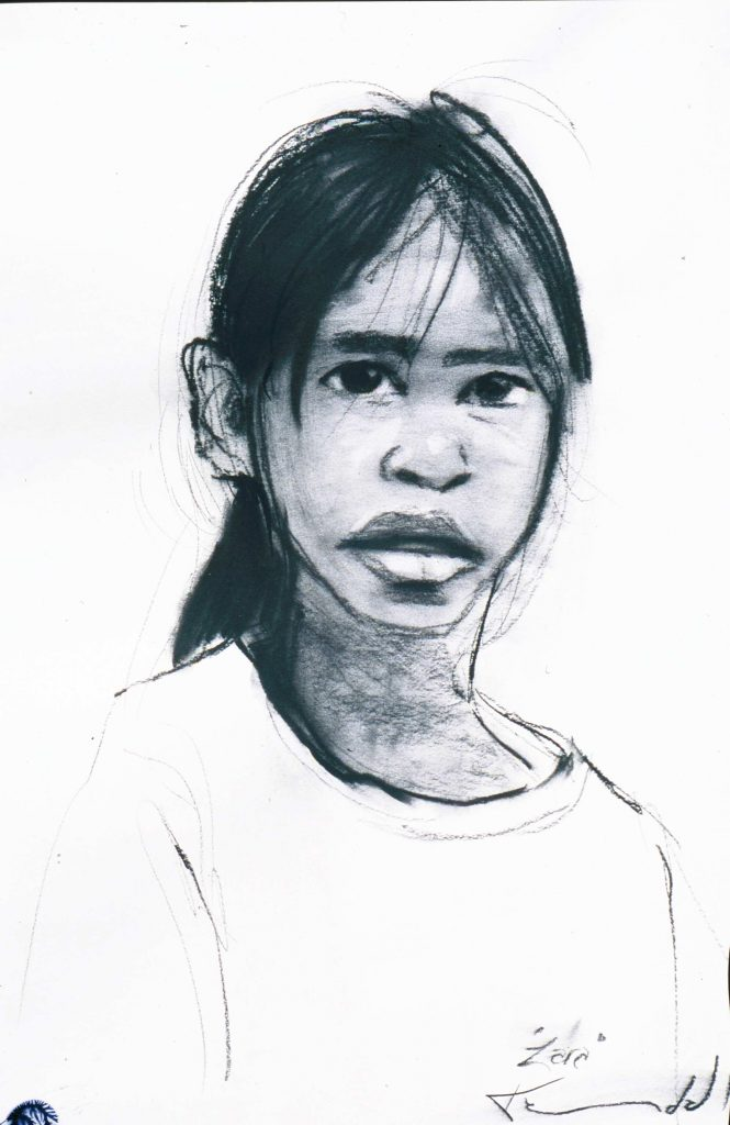 Portrait drawingZzara.Kalumburu