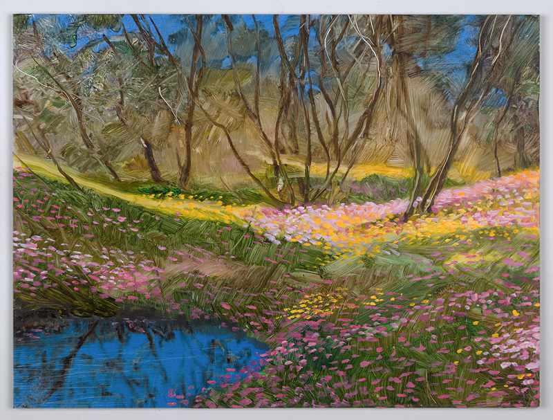 SOLD 9X12 inches everlastings-reflecting-pool-nov2016-oil-on-board