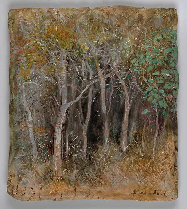 SOLD 9X12 inchescavern-in-the-bush-nov2016-oil-on-board