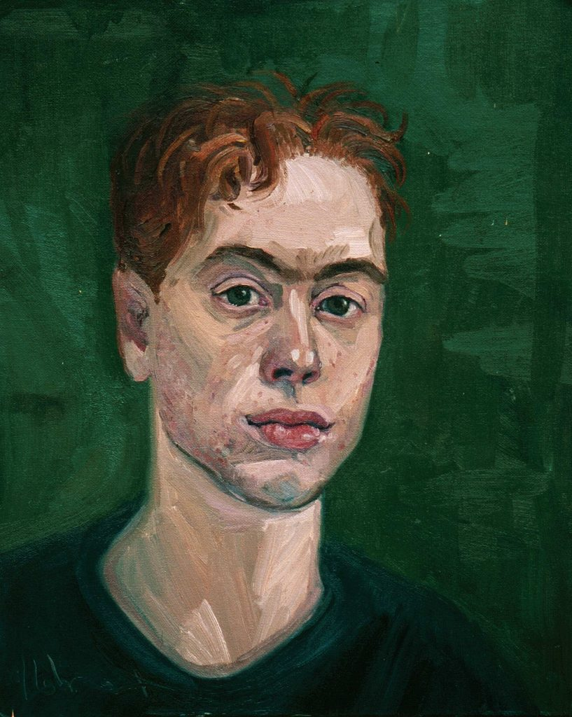 Study       Luke.Alla prima 2 hours oil on canvas 38cm by 46cm