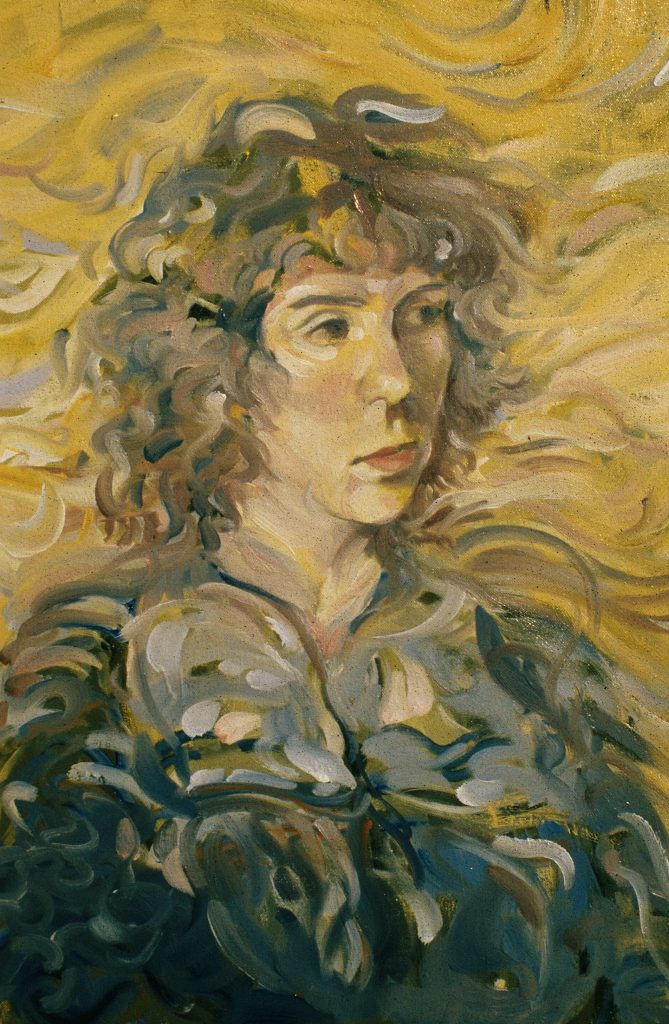 Study                  girl with curly hair. Alla prima 3 hours.oil on canvas 38cm by 46cm